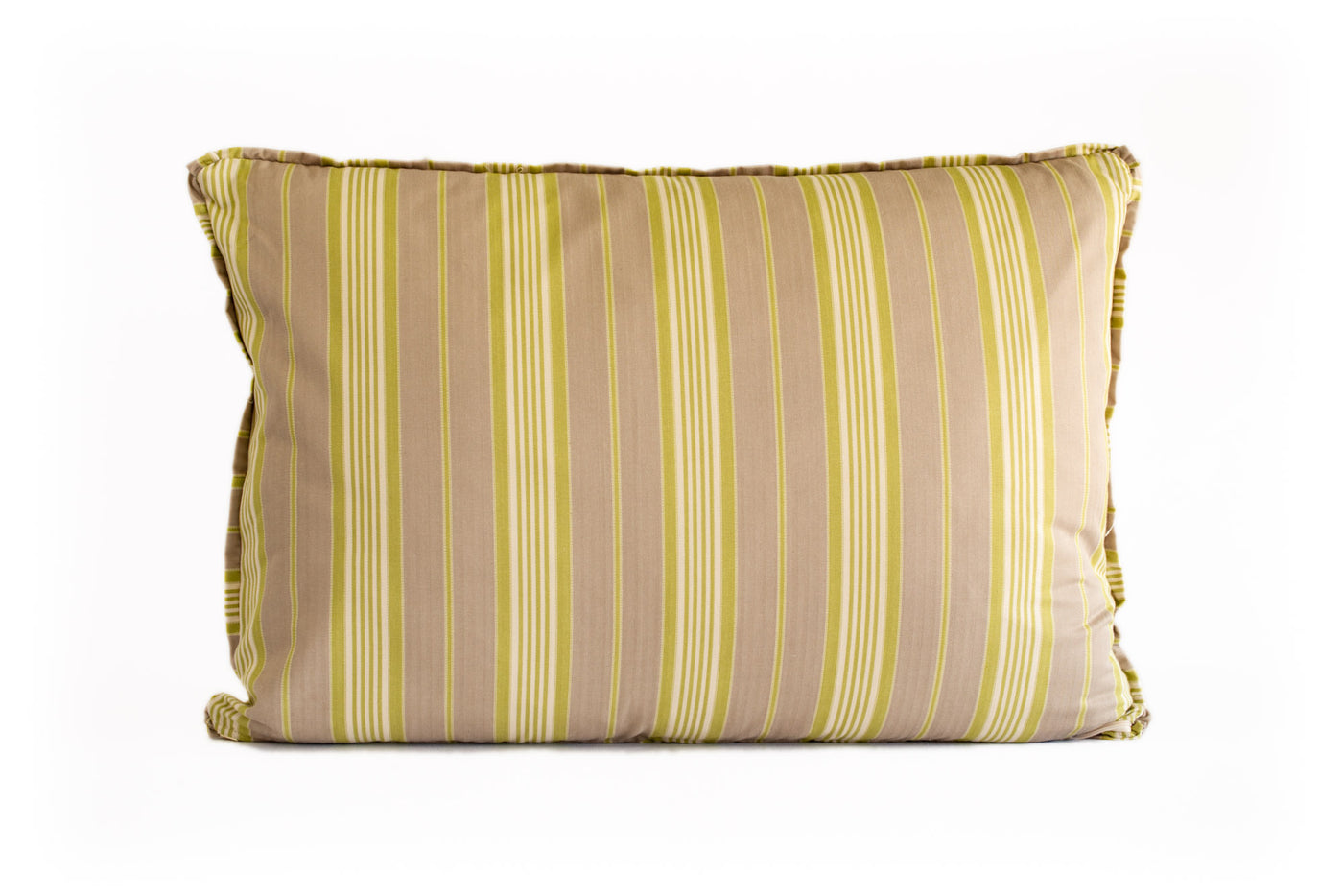King Euro Pillow Green Stripe