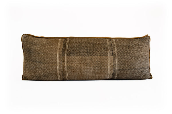 Vintage Brown Long Pillow