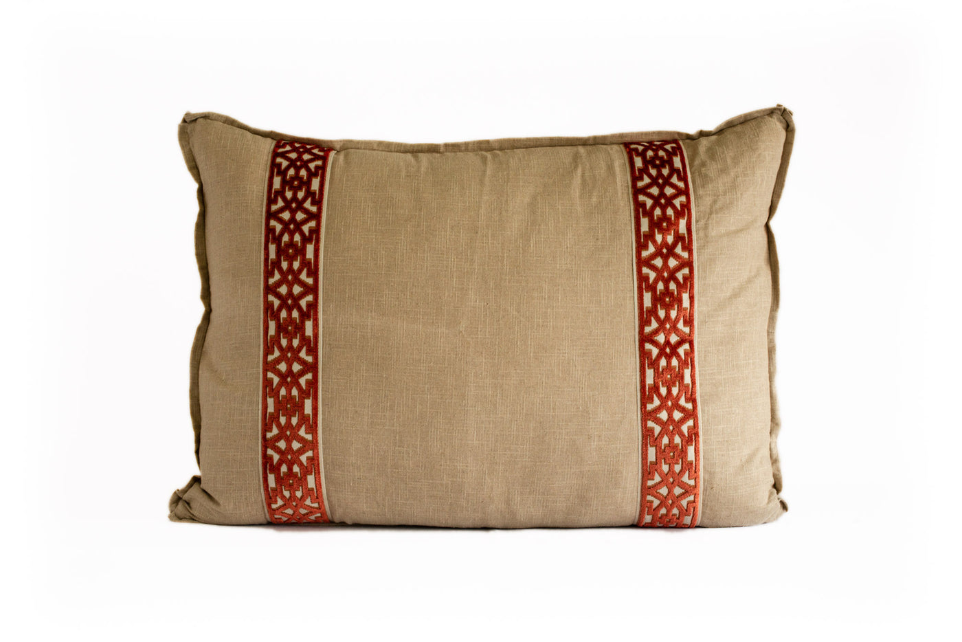 King Euro Pillow Linen with Sienna Tape