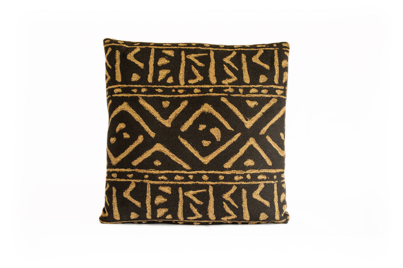 Black and Gold Tribal Pillow