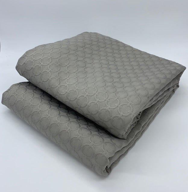Gray Matelasse Coverlet - Circle Pattern