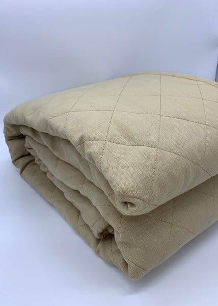 Butter Linen Diamond Quilted Coverlet