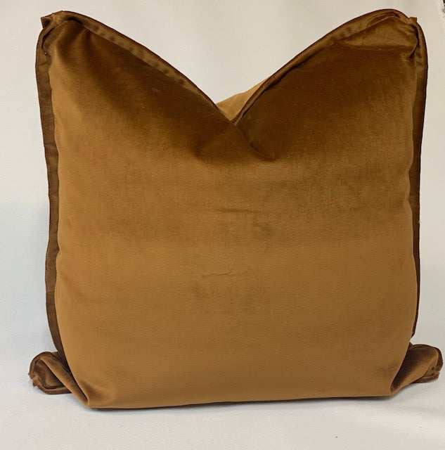 Caramel Velvet Pillow Square