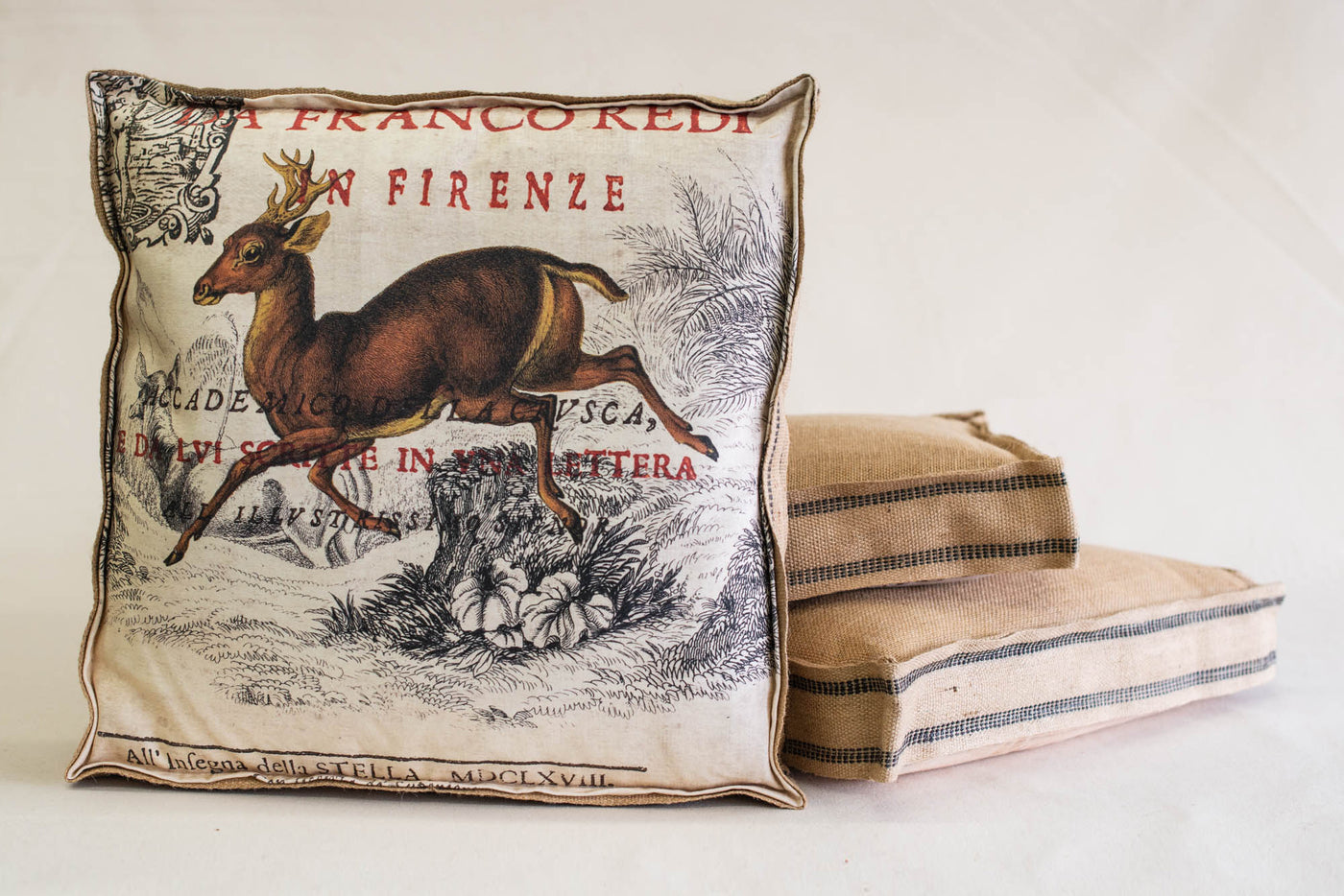 Single Layered Pillow Deer Franco
