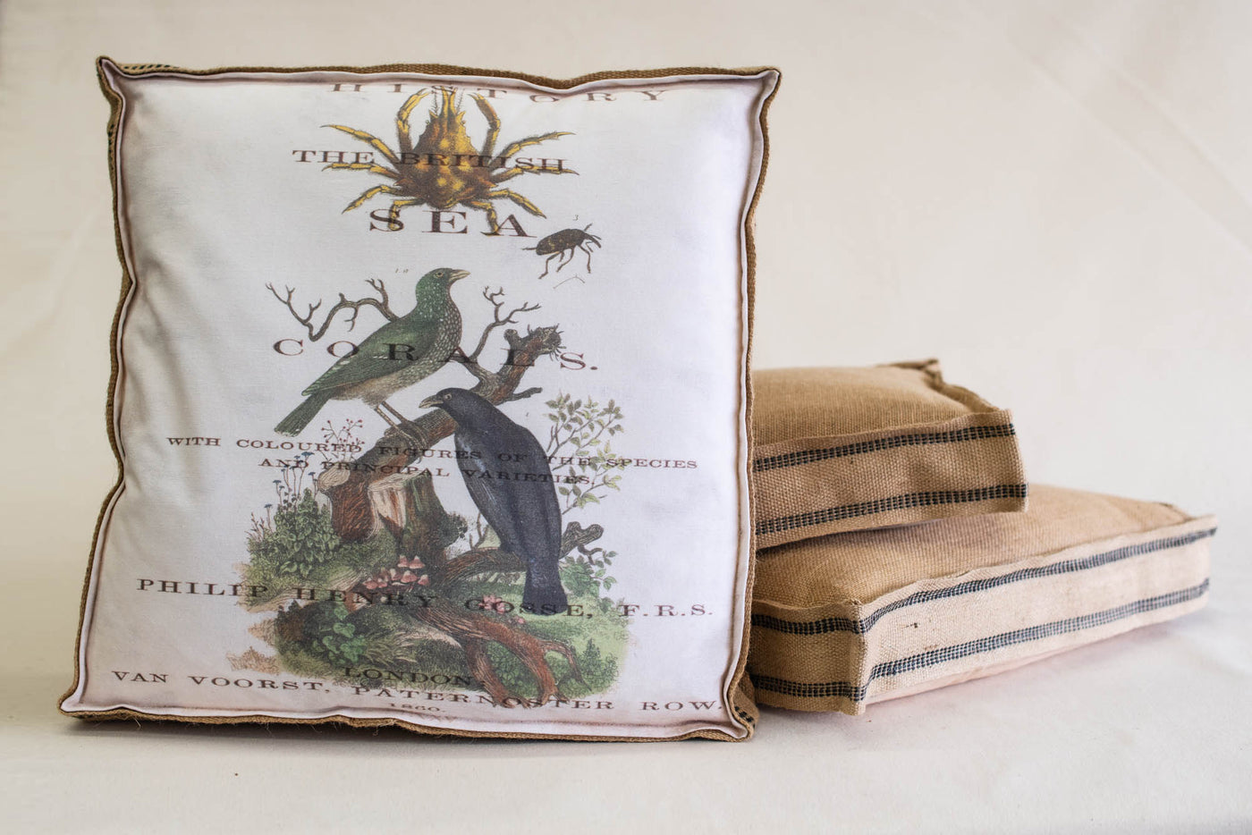 Single Layered Pillow Sea History Crab