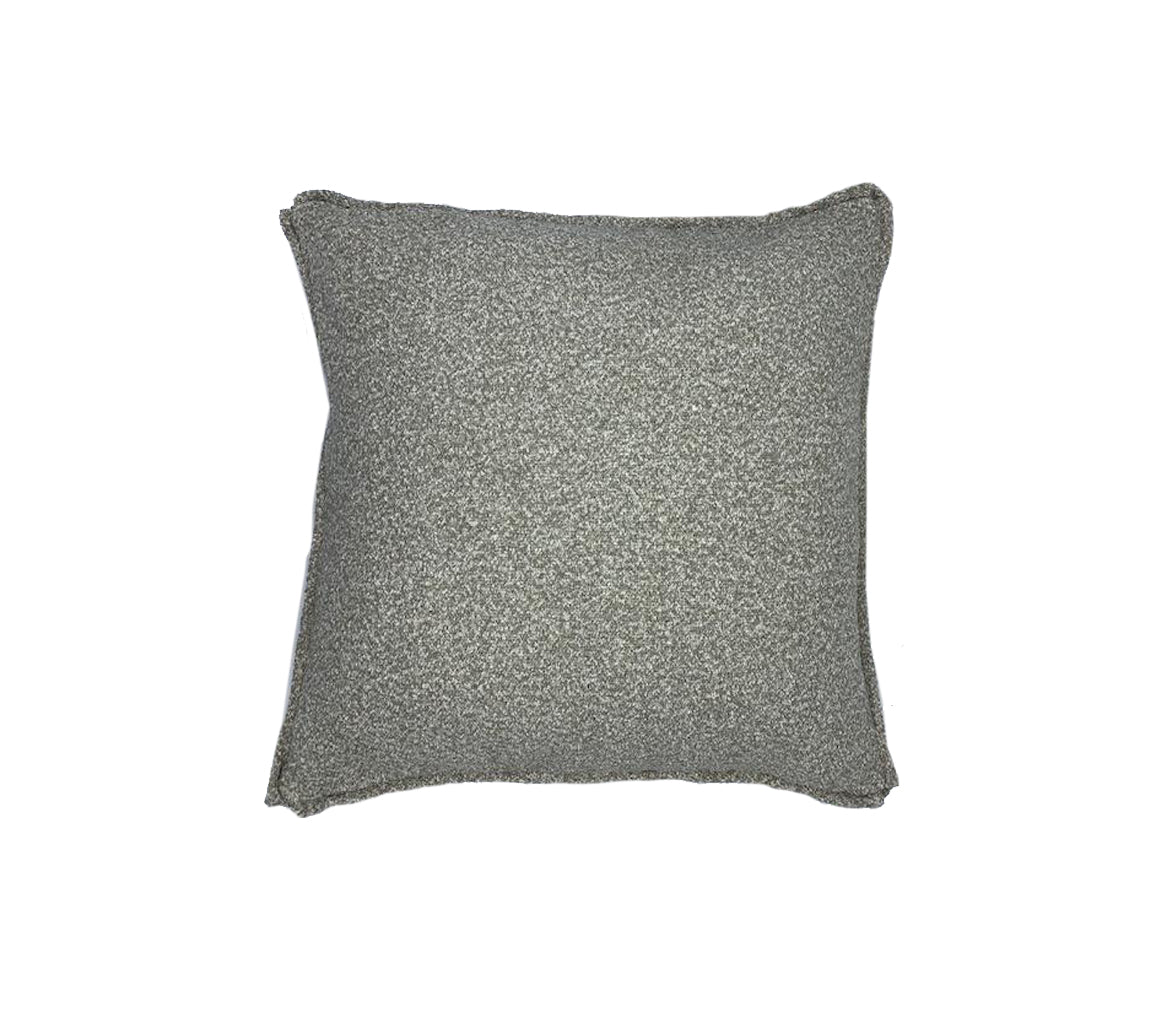 Textured Salt and Pepper Boucle Pillow