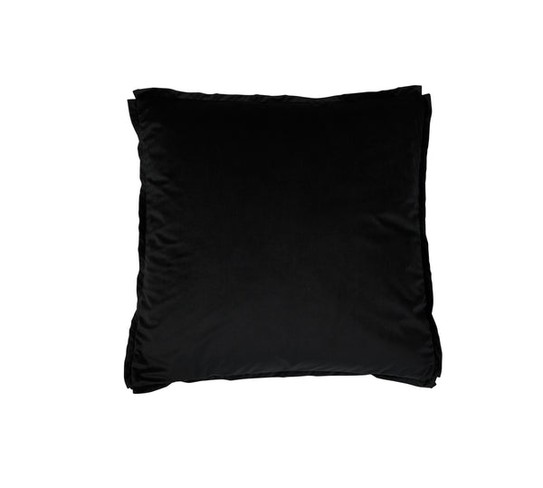Velvet Pillow Square Black