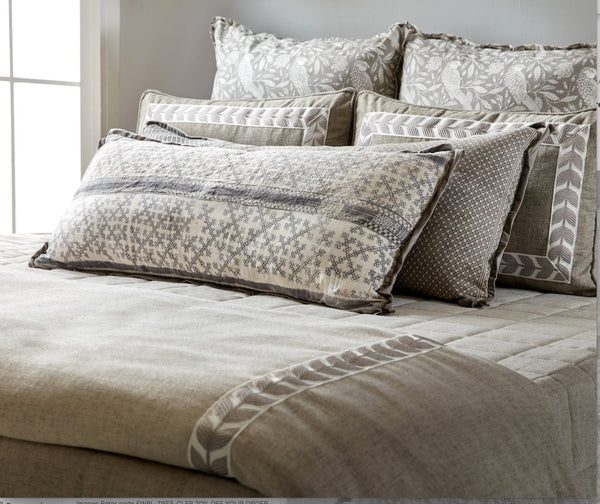 Duvet Natural with Taupe Leaf Tape