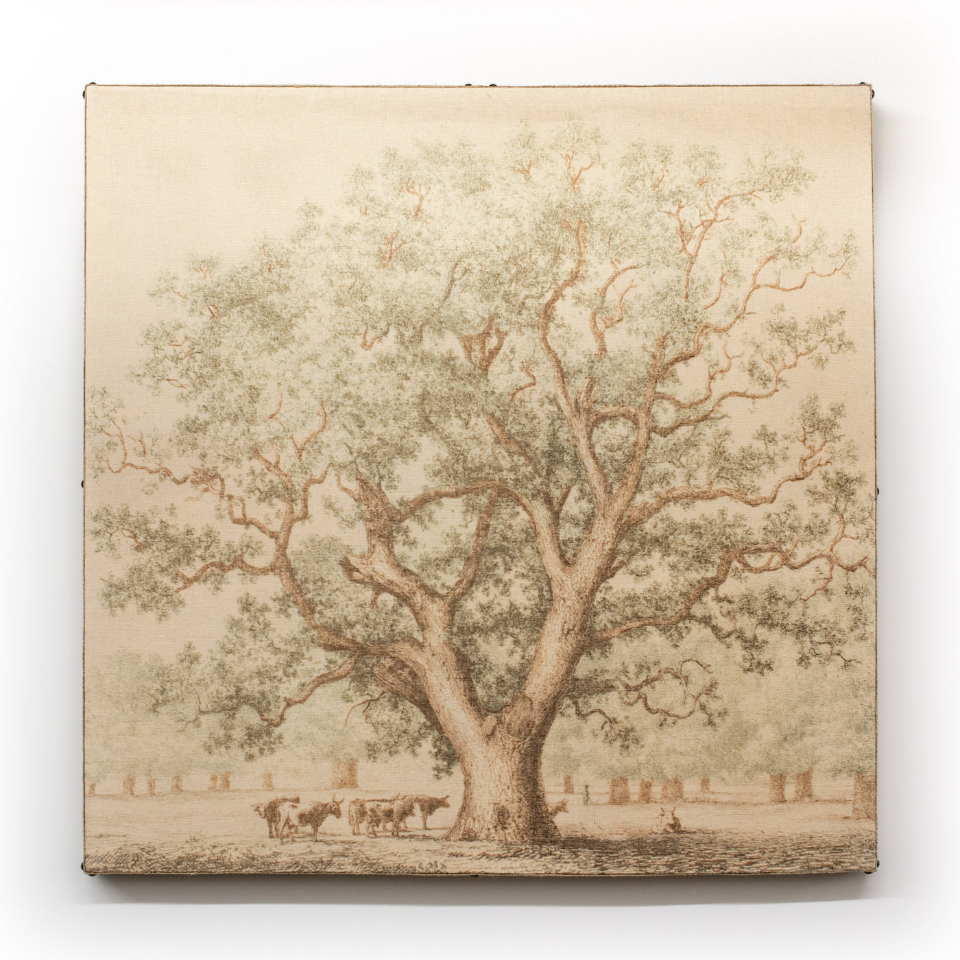 Multi Layer Art Oak Tree With Cattle