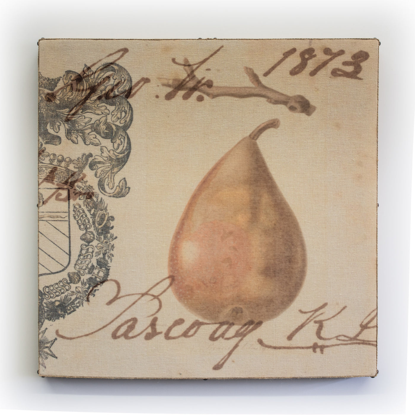 Wall Art Multi Layered Crest Pear 2 Square