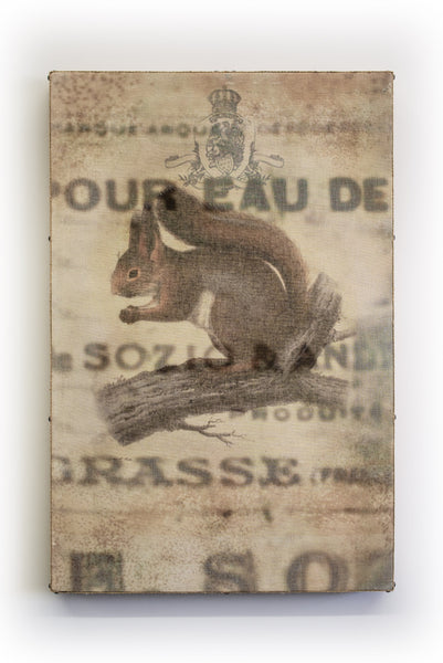 Wall Art Multi Layered Crest Squirrel
