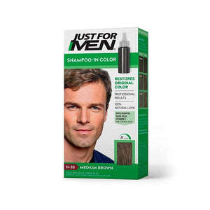 Tinte En Shampoo Para Cabello Just For Men Castaño Medio H-35 27.5 Ml