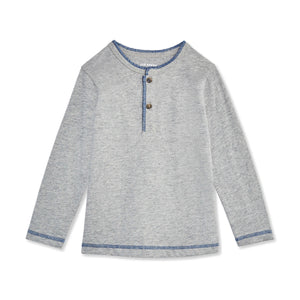 Toddler Boys' Long Sleeve Henley Tee
