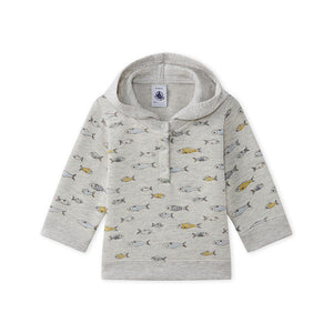 BABY BOYS HOODED SWEATSHIRT