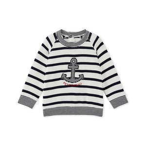 BABY BOYS SAILOR-STRIPED SWEATSHIRT