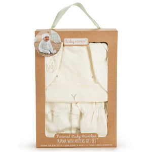 Baby Aspen Natural Baby Bunny Pajama & Mittens Gift Set