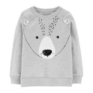 Toddler Boy Carter's Bear 3-D Ears Pullover Sweatshirt