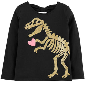 Toddler Girl Carter's Glitter Dino Graphic Tee