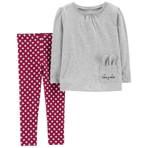 Baby Girl Carter's Bunny Tee & Floral Leggings Set