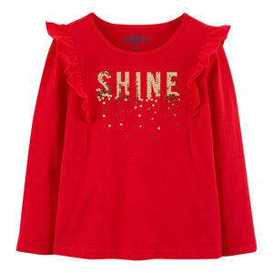 "Toddler Girl OshKosh B'gosh® ""Shine"" Sequin Graphic Tee"