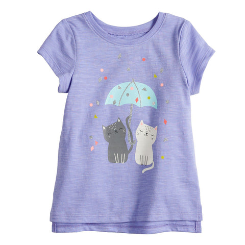 Baby Girl Jumping Beans® Animal Graphic Tee