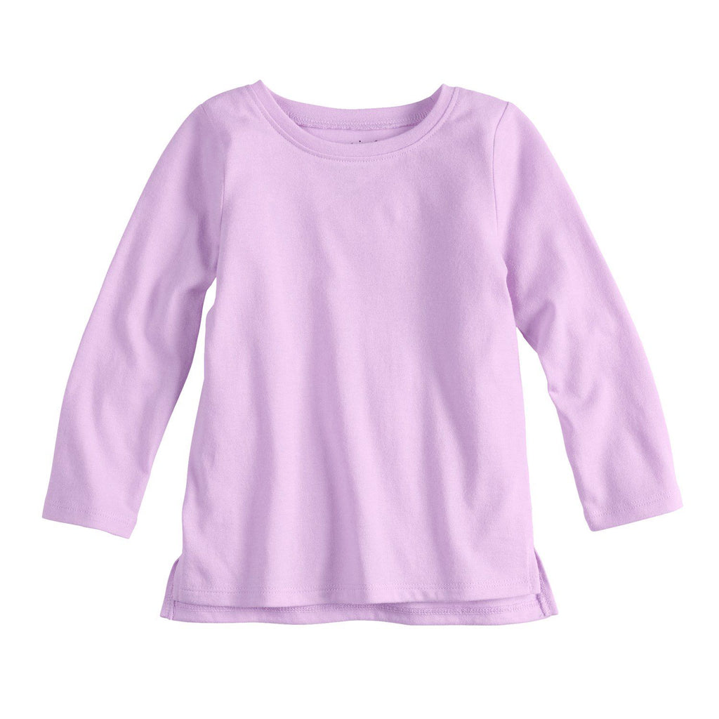 Baby Girl Jumping Beans® Vented Hem Long Sleeve Tee