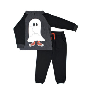 Toddler Boy Little Rebels Ghost Sneakers Pullover Hoodie & Jogger Pants Set