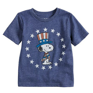 Baby Boy Jumping Beans® Peanuts Snoopy Patriotic Stars Graphic Tee