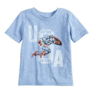 "Baby Boy Jumping Beans® Marvel Captain America ""USA"" Graphic Tee"
