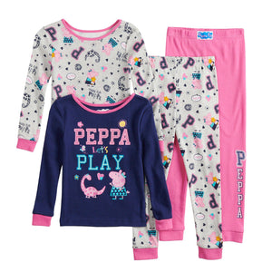 Toddler Girl Peppa Pig Top & Bottoms Pajama Set
