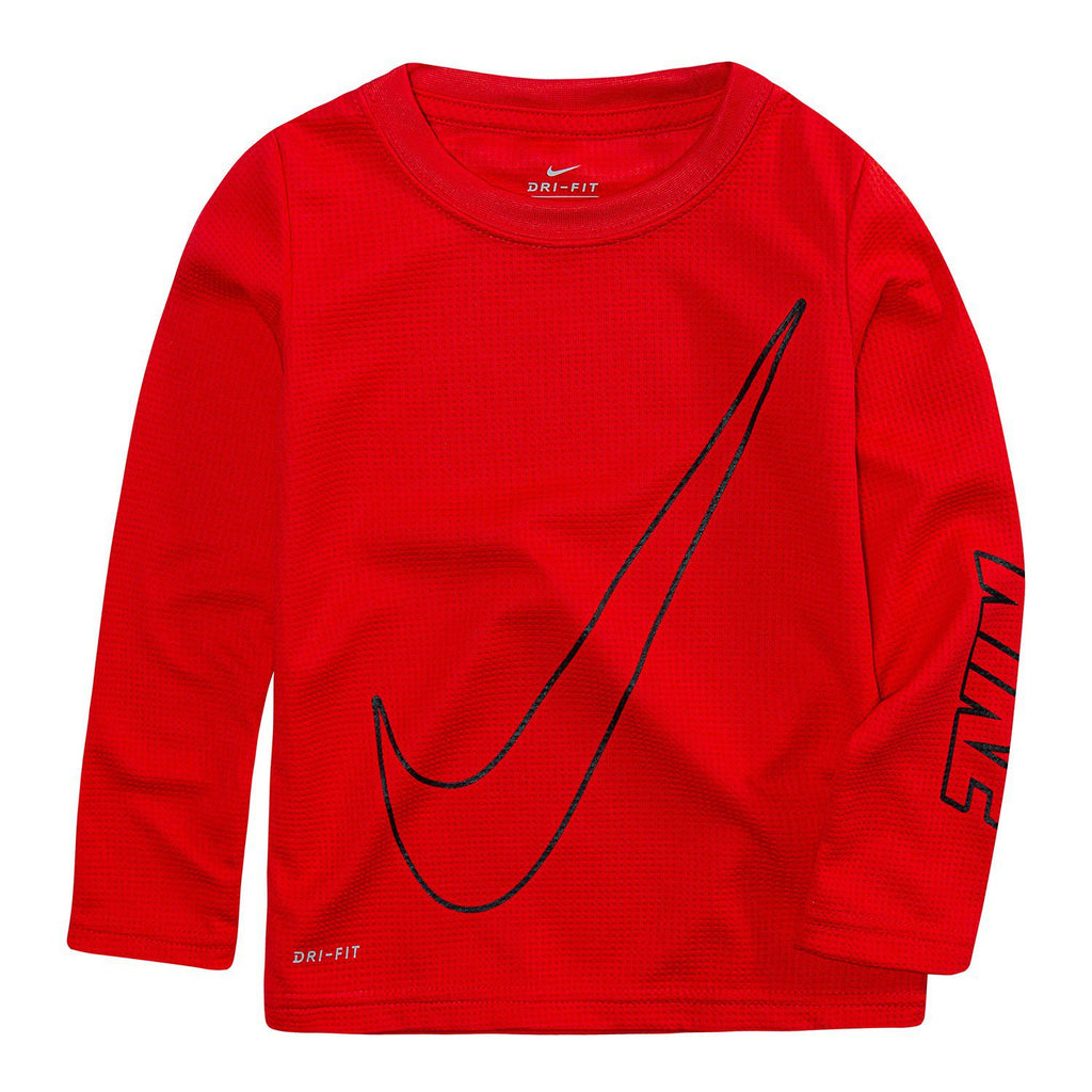 Toddler Boy Nike Oversized Swoosh Dri-FIT Top