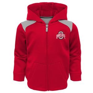 Toddler Boy Ohio State Buckeyes Play Action Performance Fleece-Lined Zip-Up & Pants Set