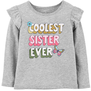 Toddler Girl Carter's Ruffle Embellished Graphic Tee