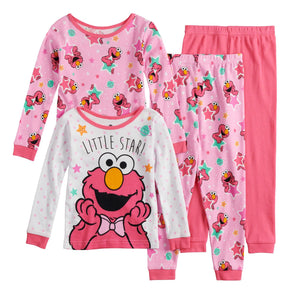 Toddler Girl Sesame Street Elmo Tops & Bottoms Pajama Set