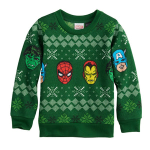 Toddler Boy Marvel Characters Pullover Sweater