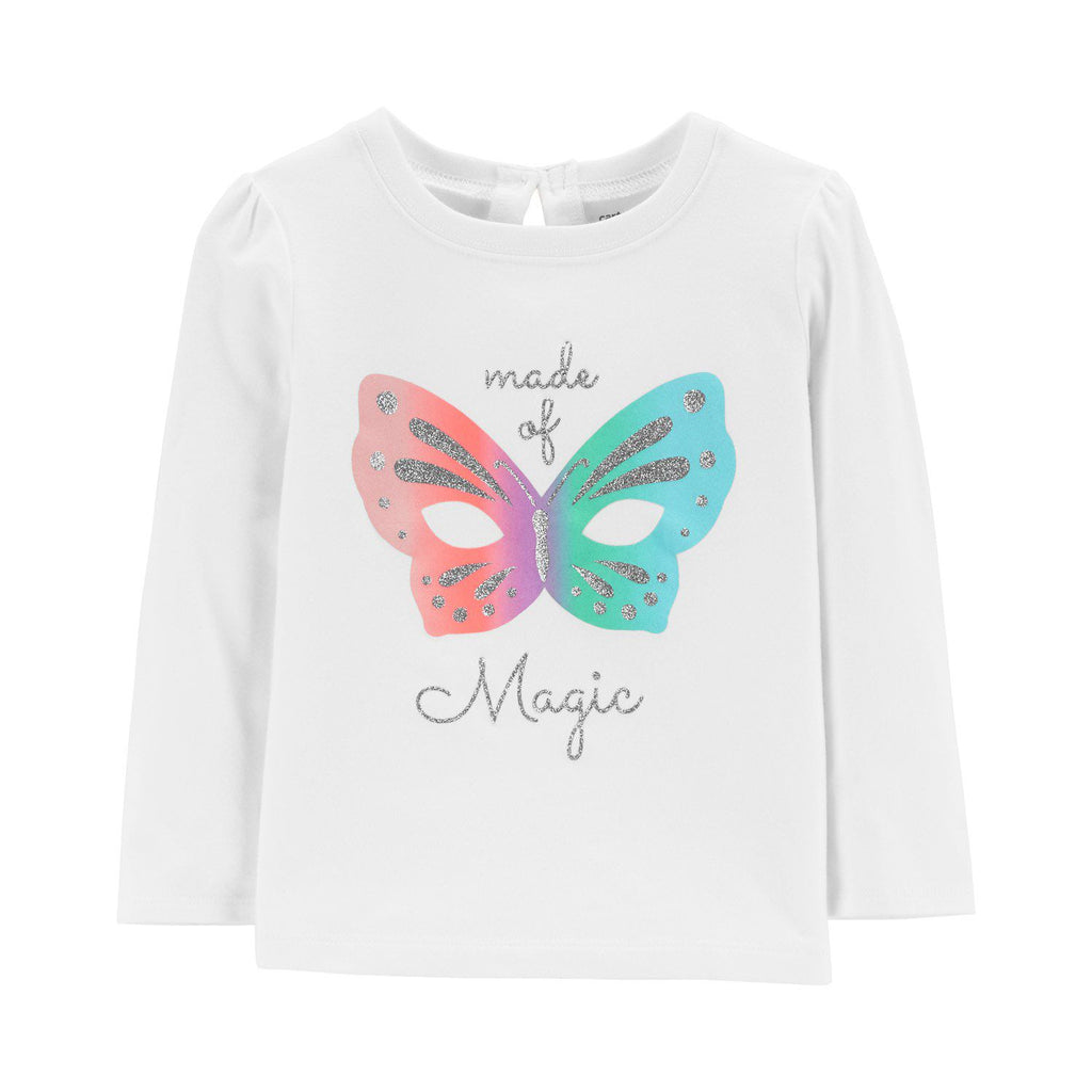 Baby Girl Carter's Bow Back Graphic Tee
