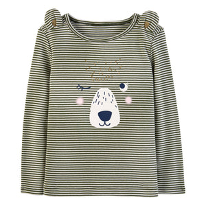 Baby Girl Carter's Striped Animal Graphic Tee