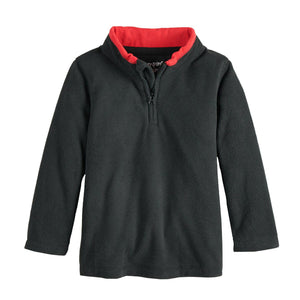 Toddler Boy Jumping Beans® Space Dyed Fleece Quarter Zip Pullover