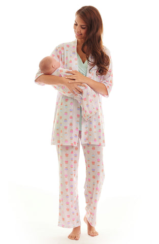 Analise During & After 5-Piece Maternity/Nursing Sleep Set