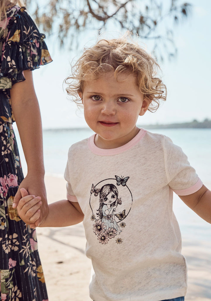 Little Auguste Butterfly Girl Tee