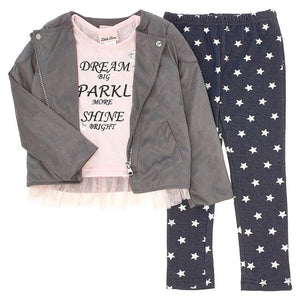 Toddler Girls 3 Piece Outfit Set (2T-4T)