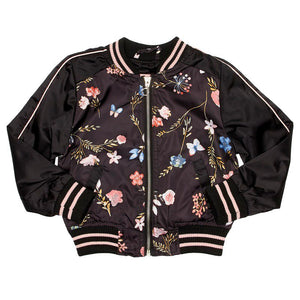 Toddler Girls Floral Bomber Jacket (2T-4T)