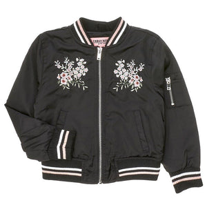 Toddler Girls Floral Embroidered Bomber (2T-4T)