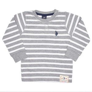 Toddler Boys Striped Thermal Top (2T-4T)