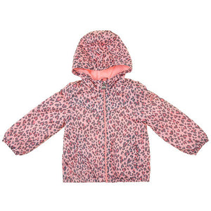 Toddler Girls Printed Fleece-Lined Coat