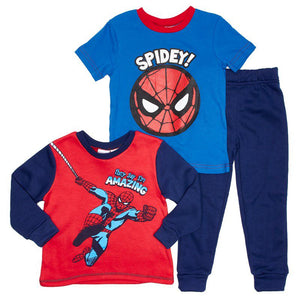Toddler Boys Spider-Man Tee, Sweatshirt & Joggers Set (2T-4T)