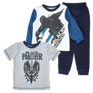 Toddler Boys Black Panther Sweatshirt, T-Shirt & Joggers Set