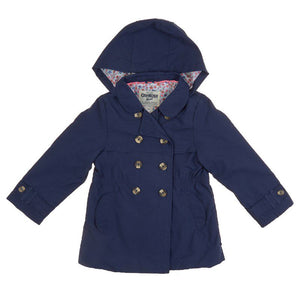 Toddler Girls Trench Coat with Hood (2T-4T)