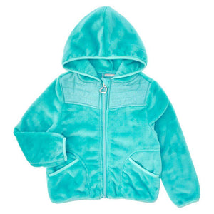 Toddler Girls Blue Fleece Jacket with Hood (2T-5T)