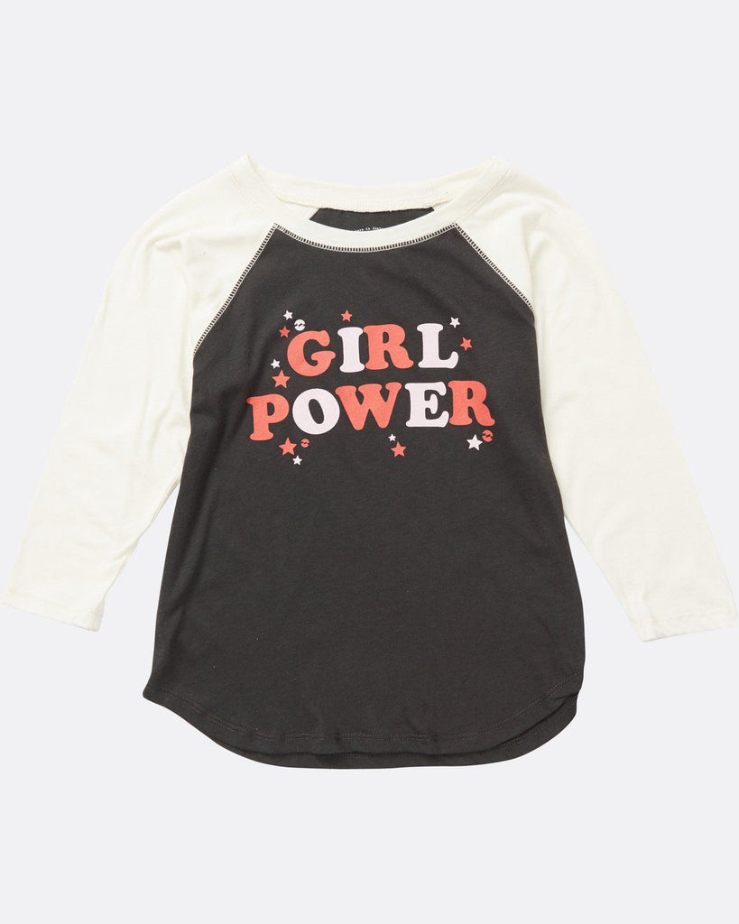 Girls' Girl Power Raglan Sleeve Tee